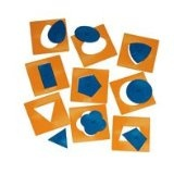 20pc Montessori Materials Insets Shapes - Preschool Development