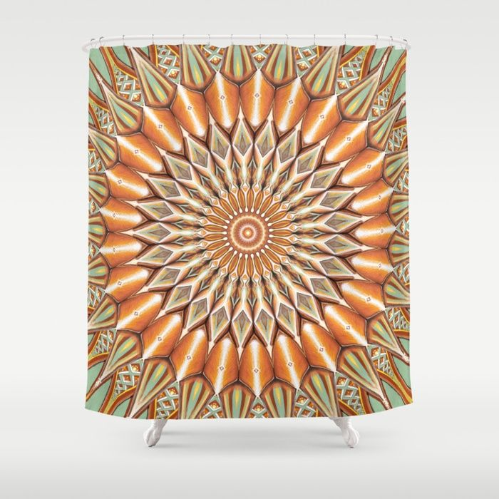 Buy Heart of the Sunflower - Mandala Art Shower Curtain by jilla. Worldwide shipping available at Society6.com. Just one of millions of high quality products available.