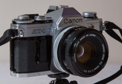 For sale Canon AT 1 35mm SLR Film Camera W 50mm F1 8 FD Lens | eBay $50