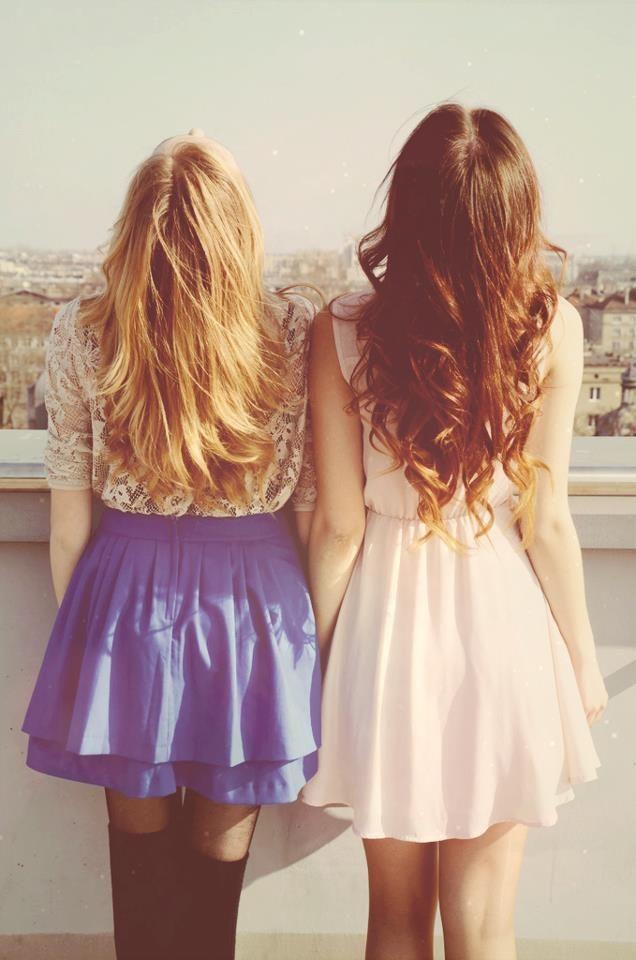 every brunet needs a blond best friend <3 <3 x: