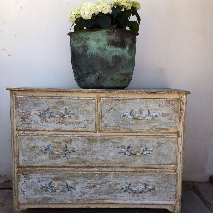French Antique 18thC chest of drawers with wonderful Patina www.antonandk.co.uk