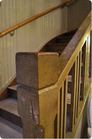 Detaljbild trappräcke till övervåning