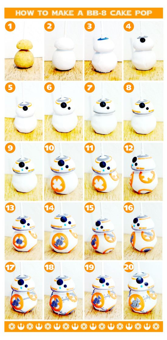 How To Make A BB-8 Cake Pop #starwars #bb8