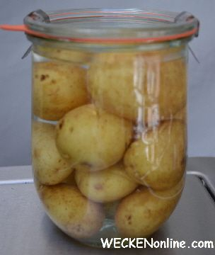 aardappelen op water m zout of (kippen)bouillon inmaken: 90 minuten op 100C