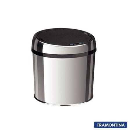 Lixeira Automática Inox com Sensor, Capacidade 6L - fastshop.com.br
