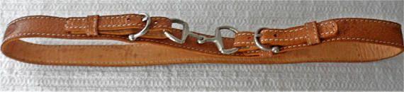 Vintage 1980s CALKINI Adjustable Tanned Leather Belt/Unisex