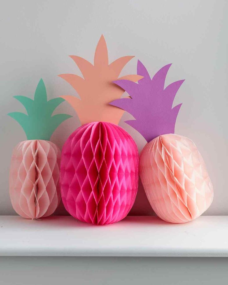 Paper Pineapple Party Decorations