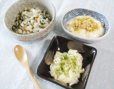 【離乳食中期】五目うどん/ジャガイモの和風煮/きな粉ヨーグルト