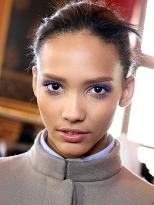 """Makeup Ideas: How to Wear Colorful Mascara : Daily Beauty Reporter : Colored mascara has always had pretty tacky associations. But the electric blue lashes at Stella McCartney's fall show last week in Paris were actually pretty gorgeous. """"[Stella] said, 'I love when girls wear colored mascara,'"""" explained makeup artist Pat McGrath..."""