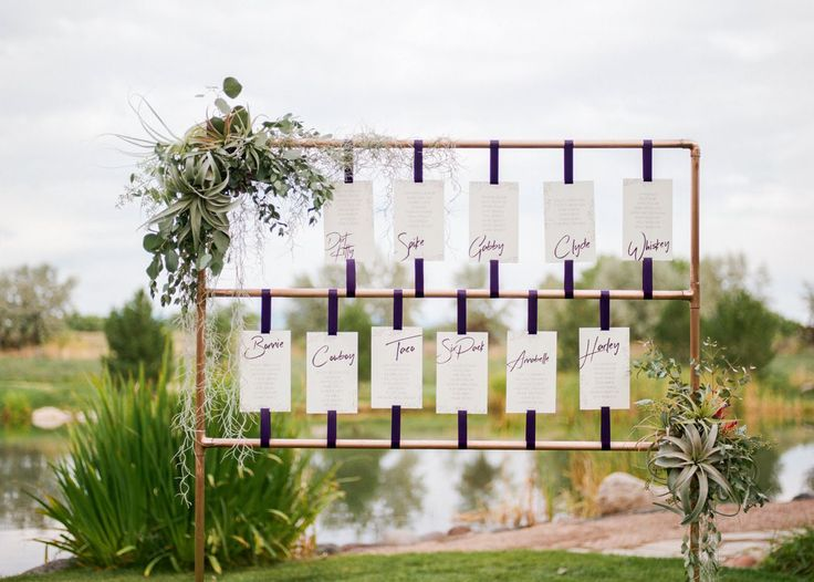 Modern copper seating chart