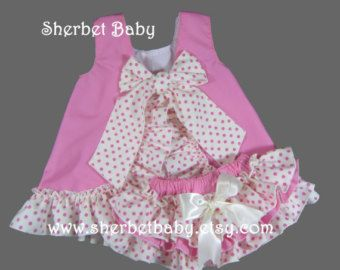 Bubble Gum Pink & Polka Dot All Around 4 Ruffled by SherbetBaby