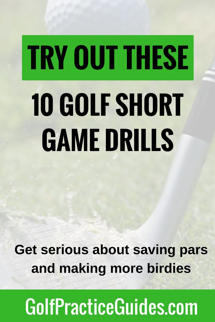 Learn how to lower your golf scores by improving your short game with these top 10 drills (putting, chipping, pitching). Download our list of short game drills by clicking the link or hit save to share with a friend! Stop by the blog for more golf tips.