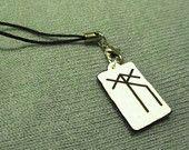 Handyanhänger - keltisches Runensymbol - Überwindung von Hindernissen - Acrylglas