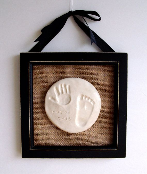 Baby Handprint Kit. PlaqueOrnament. Mother's Day. by kimeyates