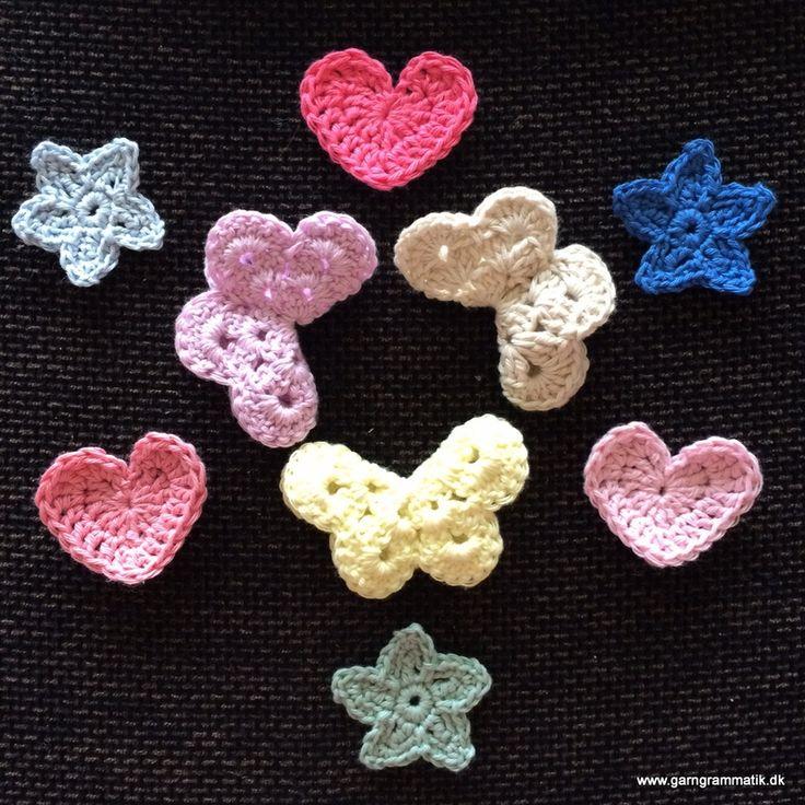 Taknemmelighed og hæklede stjerner, hjerter og sommerfugle!