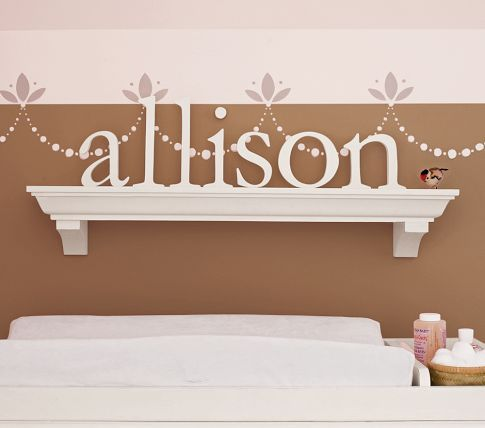 pottery barn kids: Wall Decor, Wood Letters, Lowercas Letters, Pottery Barn Kids, Wooden Letters, Pottery Barns Kids, Girls Rooms, Kids Rooms, Wall Design