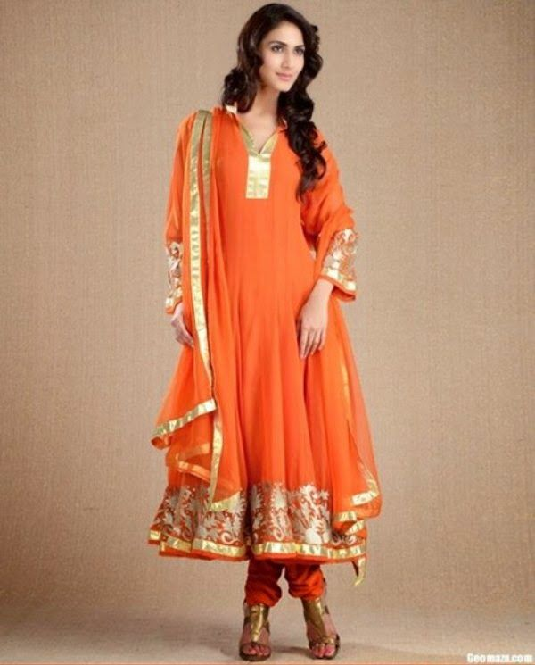 New Frocks Churidar Pajamas Latest Designs By Anarkali 2014's Collection ~ Your Choice For Dress