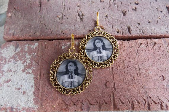 Frida Antique Look Earrings by LaCraftyVida on Etsy