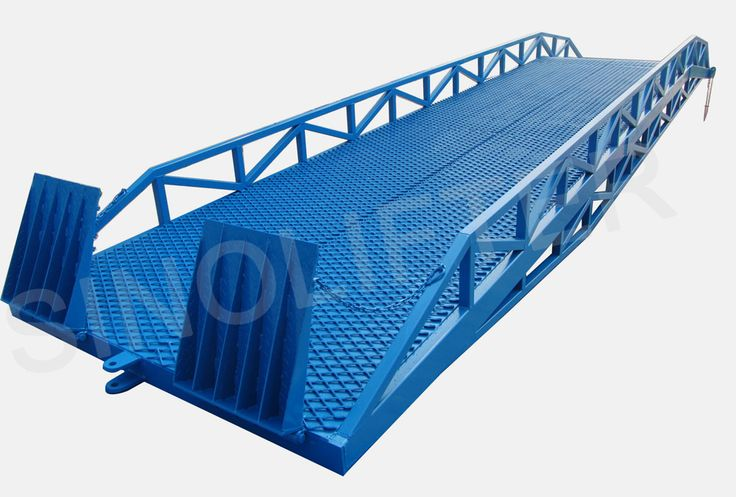 Truck loading ramps is ideal loading equipment. Form a bridge for forklift between warehouse and container or trucks. More convenient and efficient. (http://sinolifter.com/mobile-dock-ramp/mobile-truck-loading-ramps-6t.html)