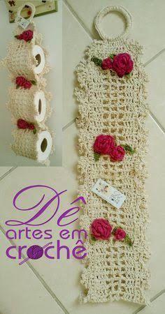 Resultado de imagen para porta papel higienico de crochet