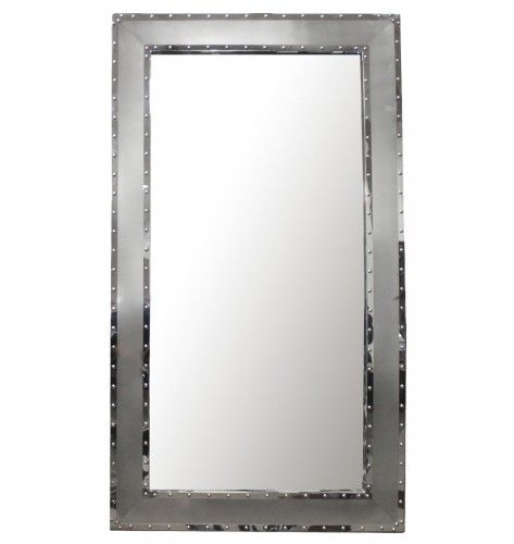 Kronos Riveted Stainless Steel Mirror Styling Station