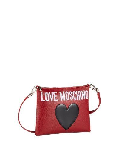 Love Moschino Clutch rot schwarz weiß