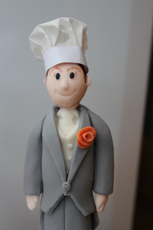 chef wedding cake toppers fondant chef wedding cake topper jonathan and marisa 12633