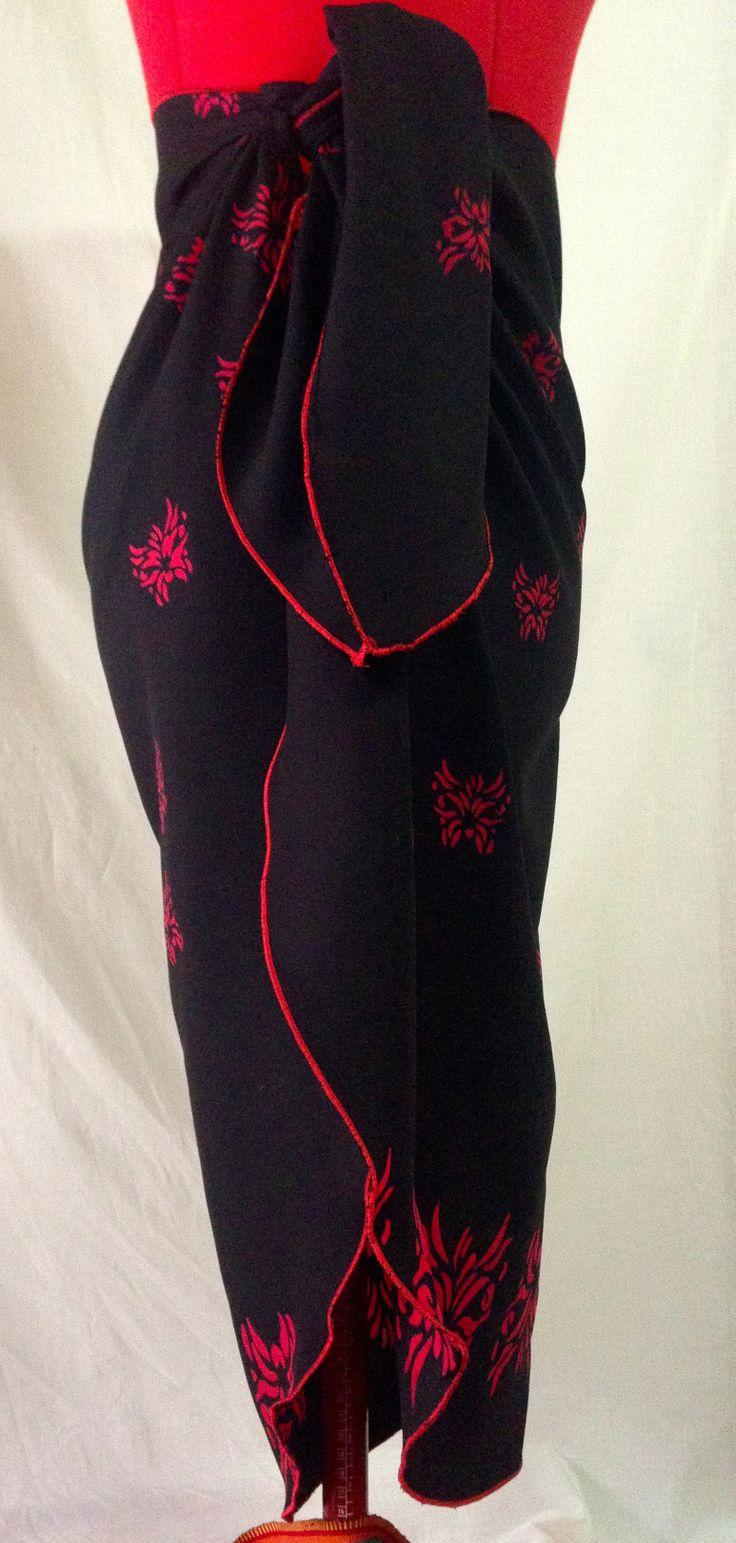 Black and Red Batik sarong   Sugar n Honey   Pinterest   Sarongs ...