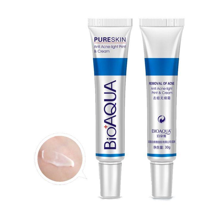 Cara Contra El Acné Cicatriz Eliminar Crema Facial Cuidado de La Piel Crema de Blanqueamiento Poros de Contracción