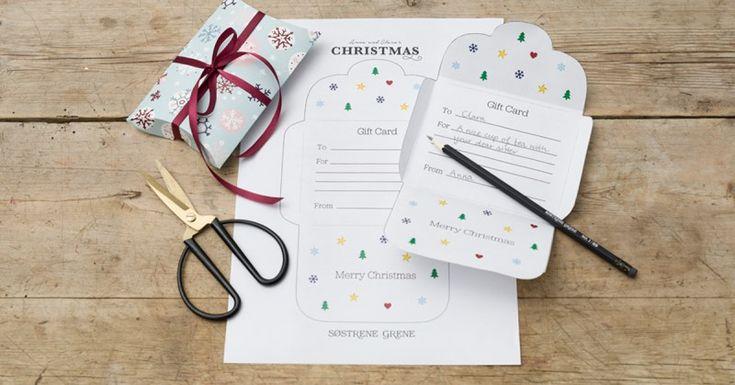 DIY – Vorlage für Weihnachtskarte - Søstrene Grene