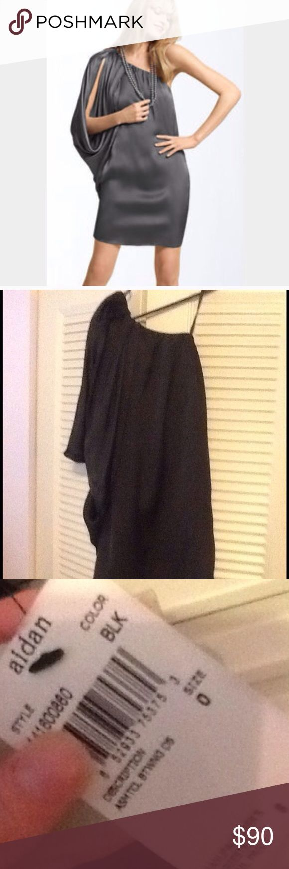 🎉Aiden Mattox Black dress🎉SALE🎉 Beautiful dress, New with tags black, never worn, fast ship✅ Dresses One Shoulder
