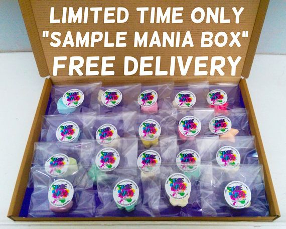 NOW AVAILABLE is our new SAMPLE MANIA BOX. For £8.99 you can now purchase a large melt presentation box which includes 19 highly scented soy wax melts. All our melts are made with 100% eco soy wax, the finest escentscia oils and are scented using the maximum amount of fragrance, giving a longer, stronger scent.  Order a box by 9 pm Monday 15th May 2017 and receive a FREE 20g sampler bag of our NEW Snow fairy lush dupe scent, which will be available to buy soon!!  These boxes come well…