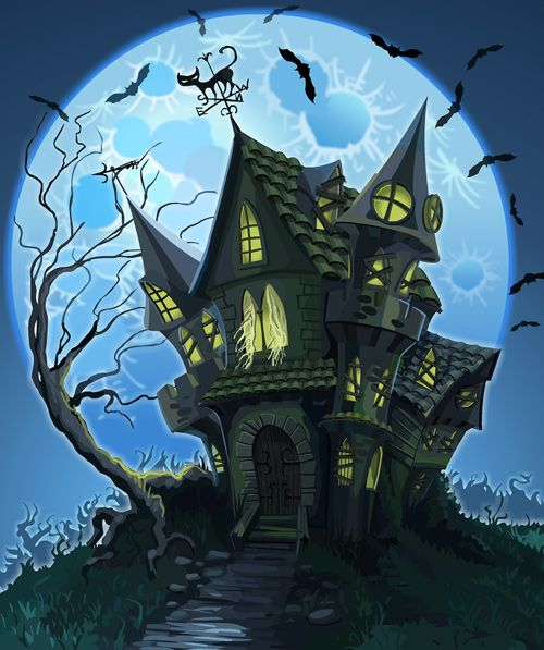 #Haunted #House by #curlyhair