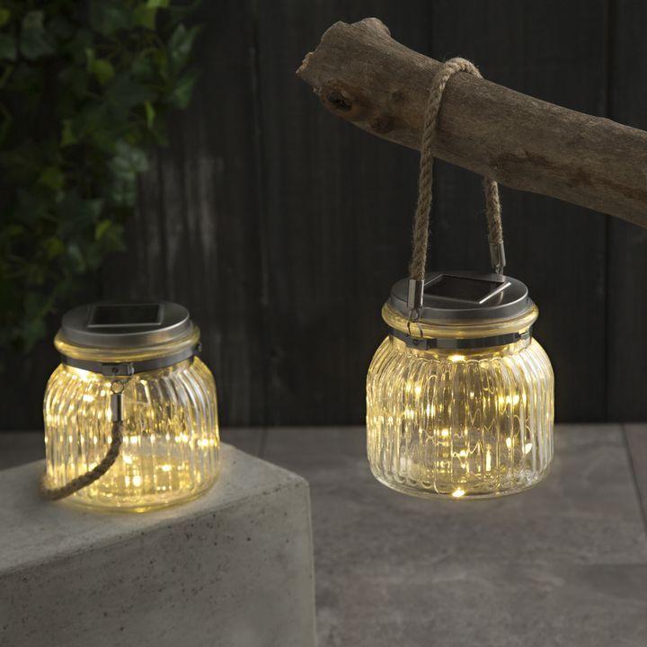 Phoebe Solar Fairy Lights In Glass Jars Set Of 2 In 2020 Solar Fairy Lights Outdoor Fairy Lights Solar Lanterns