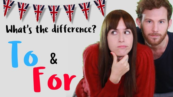 La diferencia entre TO & FOR en inglés