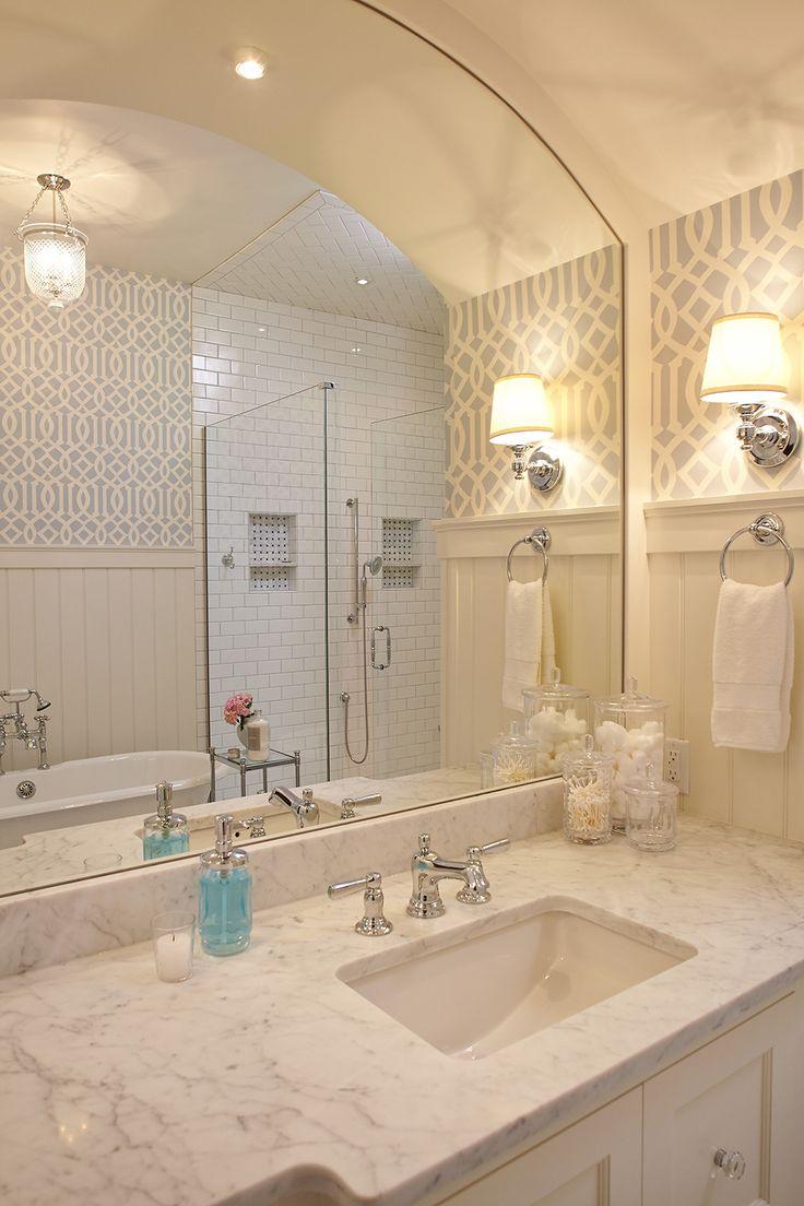277 best Wallpapered Bathroom images on Pinterest Bathroom ideas