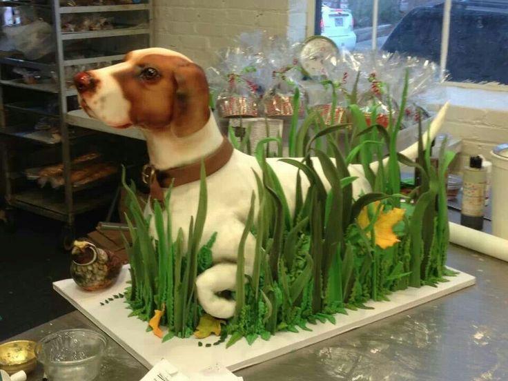 Edible Art, Hunting Dog Cake.