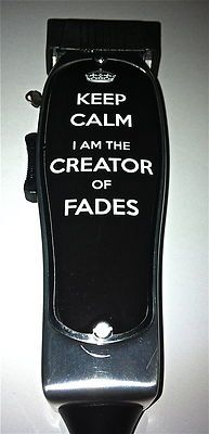 I NEED THIS!!!!! Keep Calm Fades Clipper Sticker Andis Master Trimmer Barber Hairdresser Salon | eBay