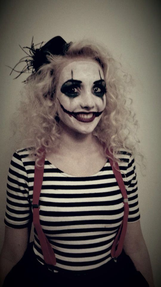 DIY Mime Halloween Costume Idea I like the suspenders and striped shirt  Would look nice with a black ballerina skirt