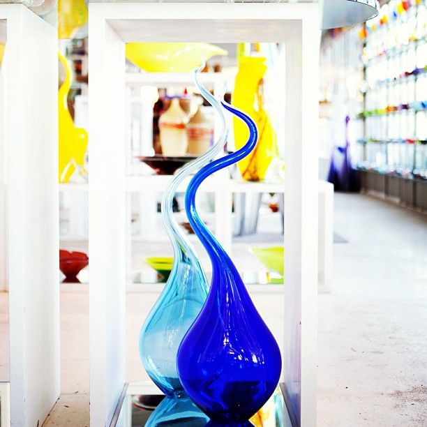 Gorgeous glass creations at Red Hot Glass glass blowing studio and gallery