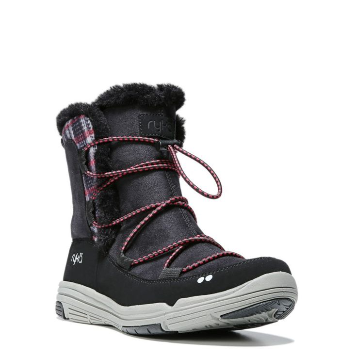 Ryka Women's Aubonne Medium/Wide Sneaker Boots (Black/Frost Grey)