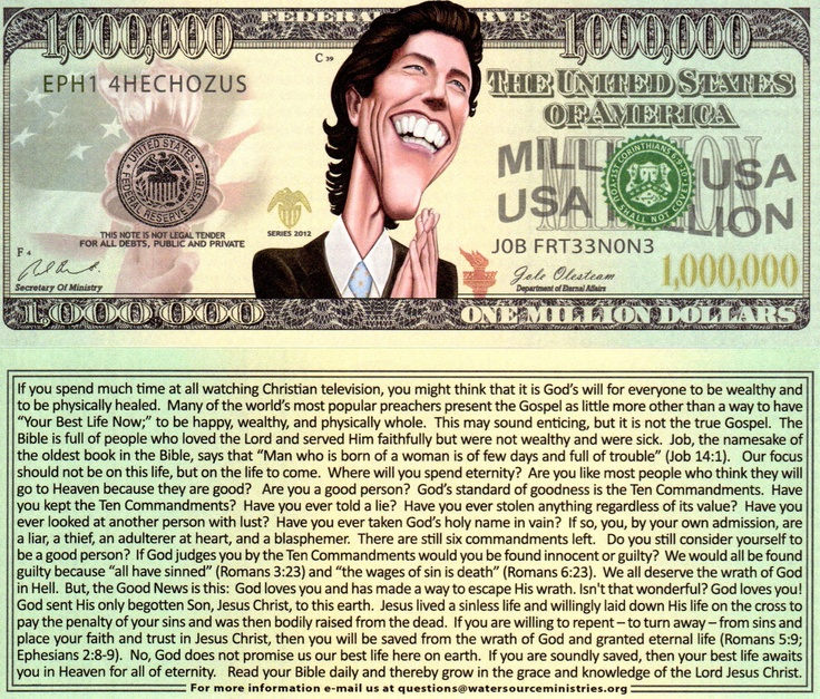 Joel Osteen-crook and a fraud | Quote posters, Funny ...