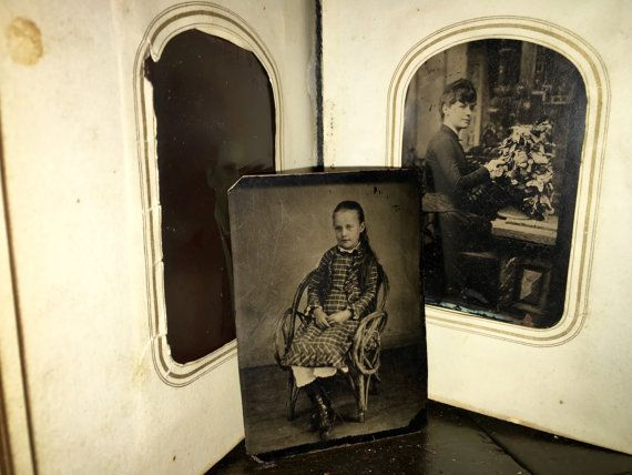 Two Photo Albums  72 Photos 62 Tintypes & 9 CDV by diabolus