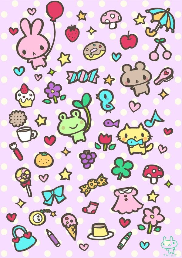 iPhone壁纸 萌物 可爱 背景 套图 韩系 动物 小图标 平铺 ╯з ︶ღ 麽麽
