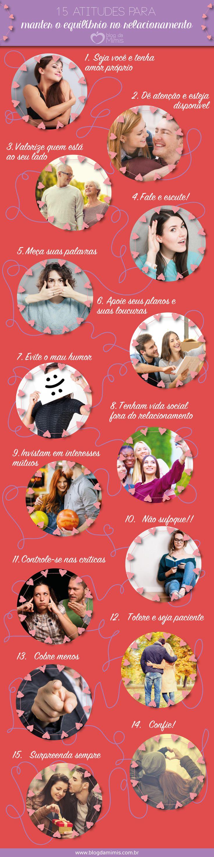 15 atitudes para manter o equilíbrio no relacionamento - Blog da Mimi #relacionamento #love #casamento #relação #casal #namorados #dicas