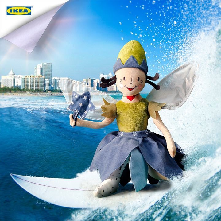 Surf's up! Hang Ten with SILVERTÄRNA, our soft toy fairy heroine, and surf into the nearest IKEA store to help educate the world's children!