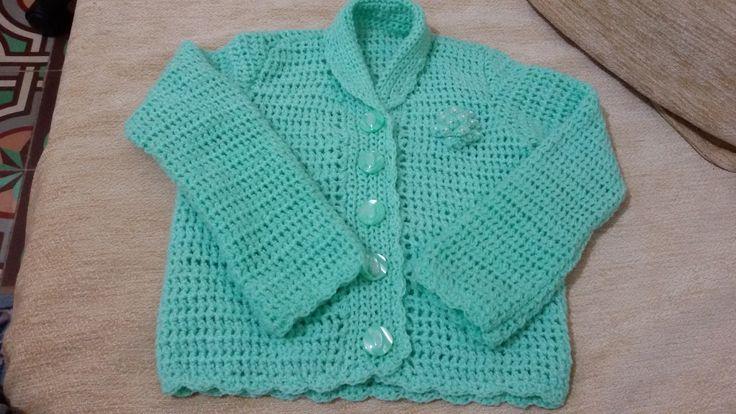 háčkovaný svetřík pro vnučku