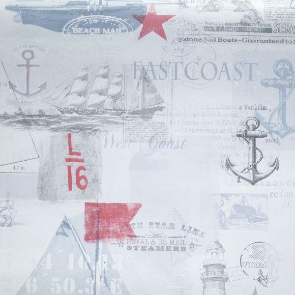 New England inspirerad tapet från kollektionen Hav & Land 49281. Klicka för att se fler #inspirerande #tapeter för ditt hem!