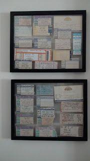 Robbins Road: Concert Ticket Display