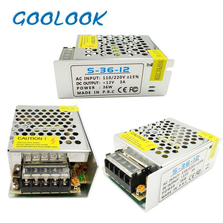 12 V LED Przełącznik Zasilania Transformatora Adapter AC 110 V-240 V DC 12 V 1.25A 6.5A 2A 3A 5A 10A Sterownik Do Taśmy Led światła